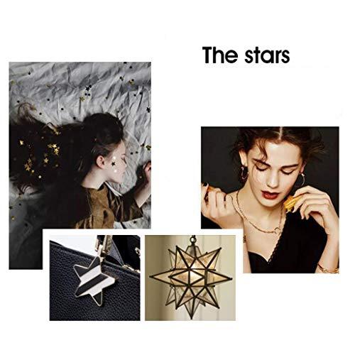 Femenina de Red Red Simple de Star Gran Color Messenger Handle de Decorativo Moda Five Bolso Cuero Capacidad Hombro CwPxUqTt