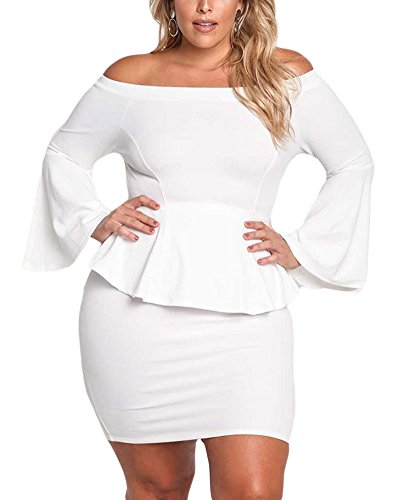 Womens Peplum Off The Shoulder Dress