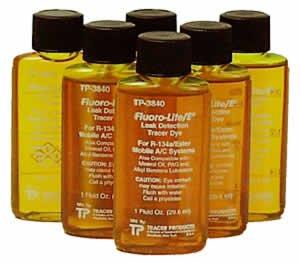(Tracer Fluoro-Lite Universal Bottled A/C Dye, Case of (6) 1 oz. bottles (TP-3840-0601))