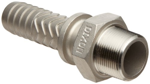 Dixon RMS16 Stainless Steel 316 Boss Fitting, Stem, 1-1/4