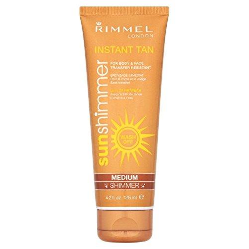 (Rimmel Sun Shimmer Instant Tan Medium Shimmer (125ml) - Pack of 2)