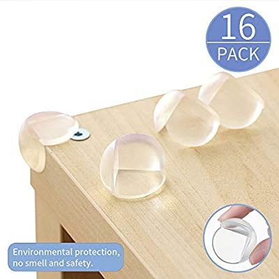 Corner Protectors Baby Proof Corner Guards Advanced Soft Clear Corner Bumpers Stop Child Injuries from Tables, Furniture & Sharp Corners