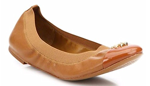 Tory Burch Jolie Ballet Flat (8 B (M) US, Royal Tan) -