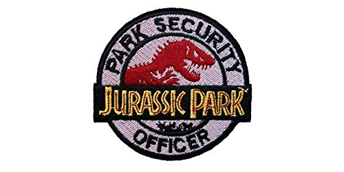 (Blue Heron Jurassic Park Movie Security Officer Embroidered Iron/Sew-on Applique Patches by Blue)