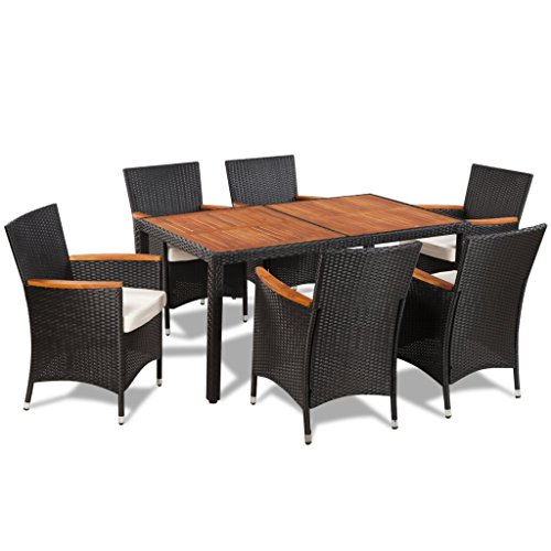 Wood Patio Table Chairs - 4