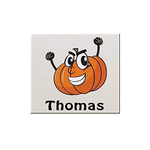 (Style In Print Personalized Custom Text Halloween Child Pumpkin Costume Ceramic Accent Mural Tile Backsplash -)