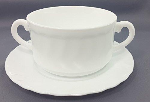 6 Suppentassen mit Untertassen Trianon 30cl stapelbar