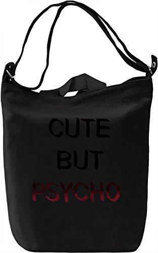 Cute Psycho Borsa Giornaliera Canvas Canvas Day Bag| 100% Premium Cotton Canvas| DTG Printing|