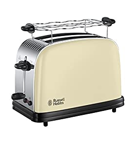 Russell Hobbs 23334-56 Colours Classic Cream Toaster, 6 einstellbaren...