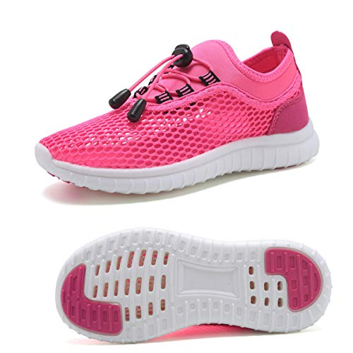 KEESKY Water Shoes for Toddler Girls Size 9.5 Slip-on Walking Sneakers Shoes Pink