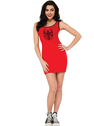 Rubie's Women's Marvel Universe Adult Spider-Girl Rhinestone Tank Dress, Multi, Large -
