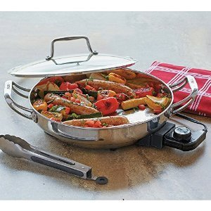CHEFS Stainless Steel Electric Skillet - 12 by CHEFS