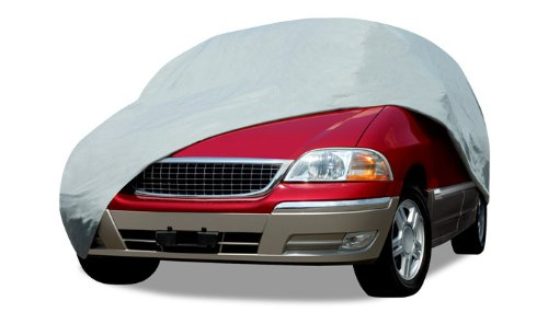 Budge Lite Van Cover Fits Full Size Vans up to 19 feet 7 inches, VB-3 - (Polypropylene, Gray) -
