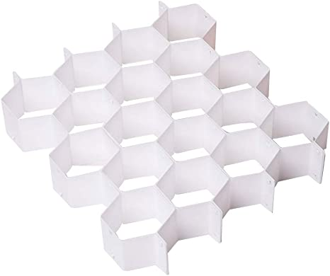 Plastic Partition Beehive Style Drawer Divider Underwear Socks Bras Organizer 2x
