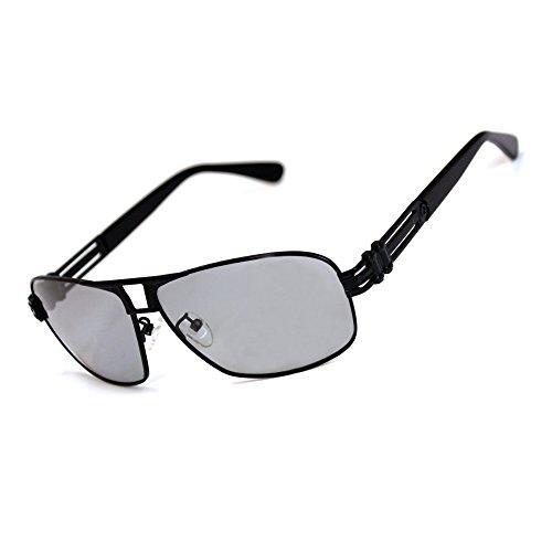 Woxgee 1.1MM Polarized Automatic Photosensitive Mens Sunglasses (Black, - Sunglasses Photosensitive
