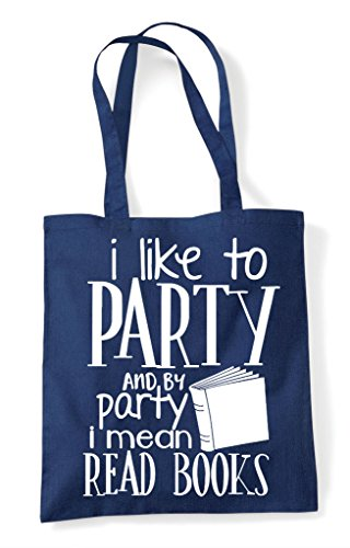 Bag And Navy To I Like Read Mean Tote Books By Shopper Party qAwFwxO7