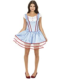 Wizard of Oz Sexy Dorothy Corset and Tutu Costume Set