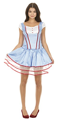 Wizard of Oz Sexy Dorothy Corset and Tutu Costume Set (Adult X-Large)