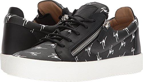Giuseppe Zanotti Hombres May London Logotipo Low Top Sneaker Negro / Blanco