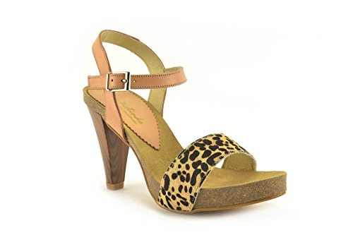 Sandalia by PieLindo - modelo 7274L - Sandalia de piel de Mujer en Leopardo. Leopardo