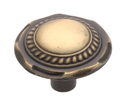 Ae Traditional Classics Knob (Amerock BP776-AE Classic Accesnts Knob Carriage Antique Brass, 1-1/4-Inch Diameter)