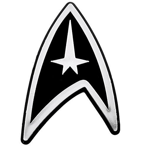 Starfleet Insignia Logo Chrome Auto Emblem - 2.25