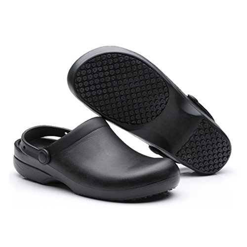 INiceslipper Unisex Anti-Slip Chef Clog Oil Water Resistant Work Shoes Beach Shoes