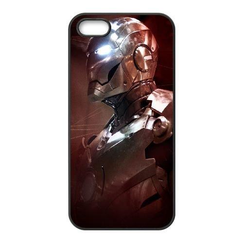 Iron Man Marvel Comics coque iPhone 5 5S cellulaire cas coque de téléphone cas téléphone cellulaire noir couvercle EOKXLLNCD24614