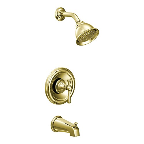 - Moen T3113P Kingsley Moentrol Tub/Shower Faucet, Polished Brass