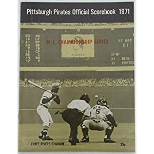 1971 Pittsburgh Pirates Official Baseball Scorebook 128906