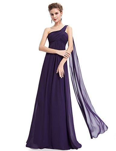 HE09816 de Vestido fiesta Mujer Oscuro Ever sin mangas Pretty Morado gwFqF1nU