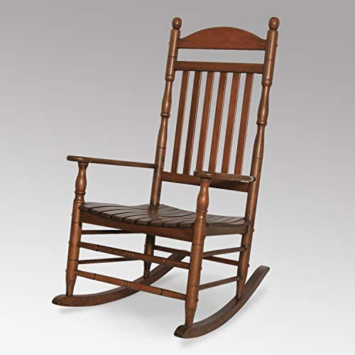 Cambridge-Casual AMZ-130635N Bentley Traditional Porch Rocking Chair, Rocker, Natural Brown