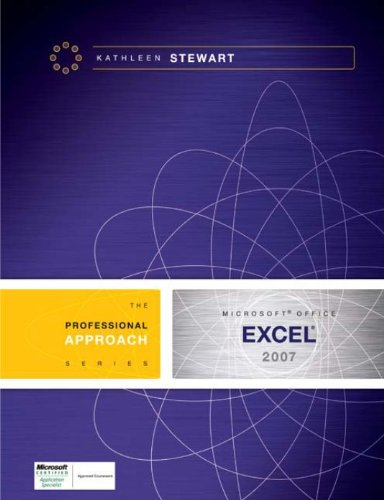 Microsoft Excel 2007: A Professional Approach Pdf