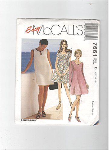 McCall's 7661 (Size 12,14, 16)Misses' dress