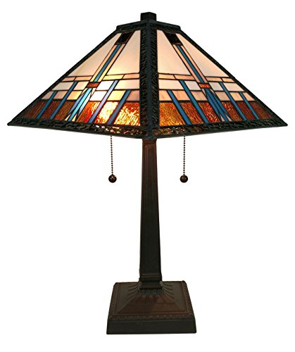 Glass Lamp Stained Glass Table (Amora Lighting AM239TL14 Tiffany Style Mission Table Lamp, 14