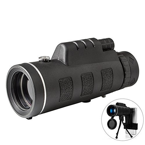 Monocular Telescope High Power 40x60 Monoculars Spotting Scope, Low Night Vision with Phone Clip and Tripod for Bird Watching Hunting Camping Hiking Travelling Wildlife by ZQZA