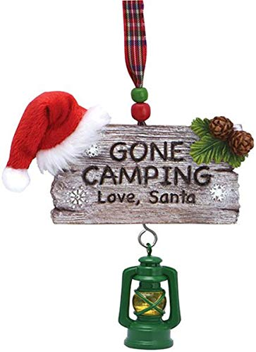 Gone Camping Hanging Christmas Ornament 4 1/4 Inch
