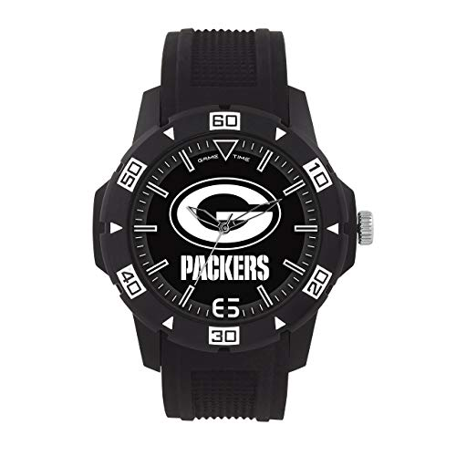 Nfl Mens Sport Watch (NFL Green Bay Packers Mens Automatic Series Wrist Watch, Black, One Size (Renewed))