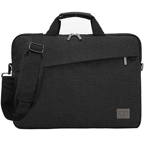 Laptop Shoulder Bag, DTBG 15.6 Inch Water Resistant Messenger Bag Handbag Outdoor Travel Briefcase Computer Case With Shoulder Strap For Laptop / Macbook / Dell / HP / Lenovo / Toshiba / Samsung