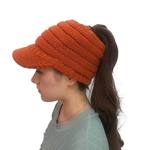 Outdoor Knitted Hats Crochet Knit Hip-hop Cap Wool Peak Cap(Free Size,Orange) ()