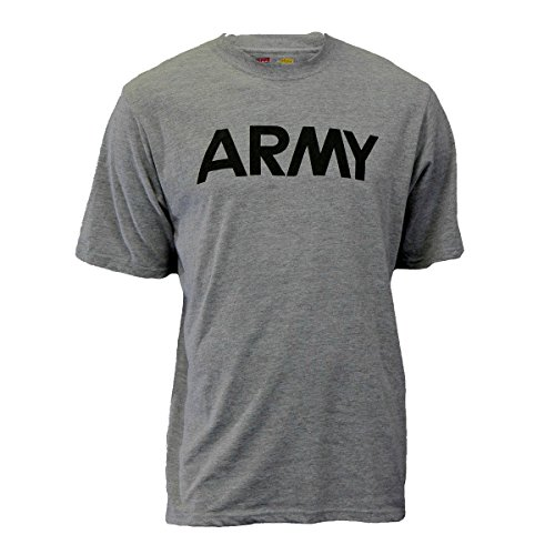 Soffe T-Shirt, Army, S/S, Gray, Size Large, 3 Pack