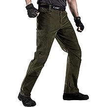 Men's Tactical Corduroy Pants - FREE SOLDIER Expandable Waist Multi Pocket Cords Pants