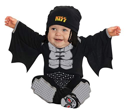 Kiss The Demon Onesie Costume, Black, Newborn -