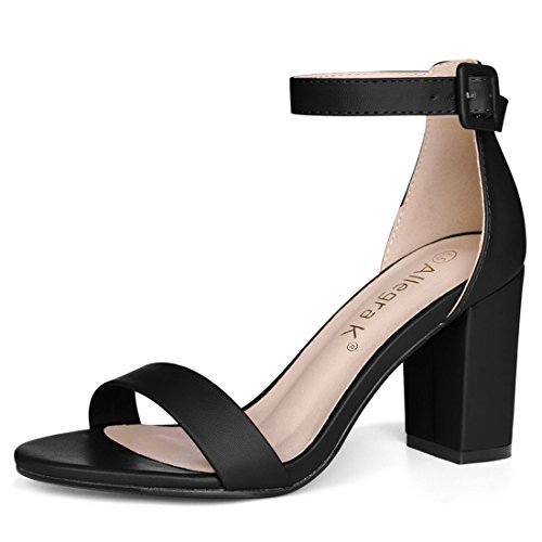 Product image of Allegra K Women Open Toe High Chunky Heel Ankle Strap Sandals