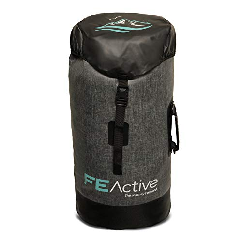 FE Active - 40 Liter Dry Bag Waterproof Backpack Dry Sack for Most Extreme Water Sports Outdoors, Camping, Backpacking, Hiking, Kayaking, Boating, Rafting, Trekking | Designed in California, USA