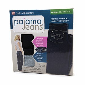 Hampton Direct Inc 80027 Pajama Jeans - Medium, Blue Denim ()