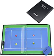 Tennis Magnetic Tactical Board, Tennis Coach Teaching Board, Foldable, Easy to Carry, Repeated Erasing