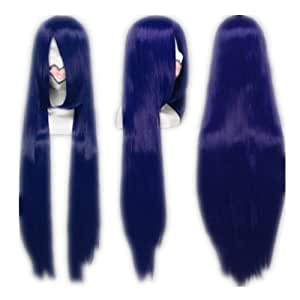 COSPLAZA Cosplay Wigs Long Dark Blue Fashion Synthetic Hair With Cap