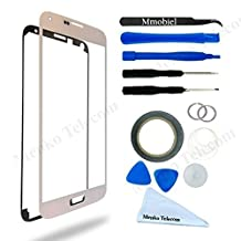 Display for Samsung Galaxy S5 mini White Glass replacement kit 12 pieces incl tools / pre cut Sticker / Tweezers / Roll of 2mm adhesive tape / cleaning cloth / suction cup / wire MMOBIEL
