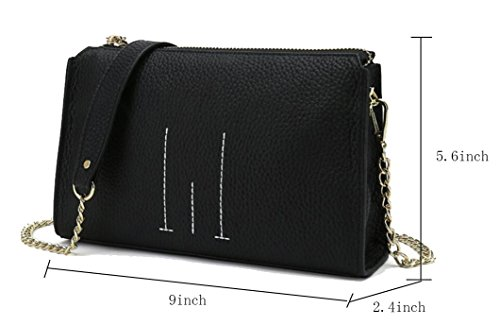 Women inches Bags Clutch 9 Line for Cowhide Green Crossbody FairyBridal Chain Lychee YZ41qqxRF